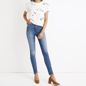 "Madewell 10"" High Rise Drop Step Hem Skinny Jeans"